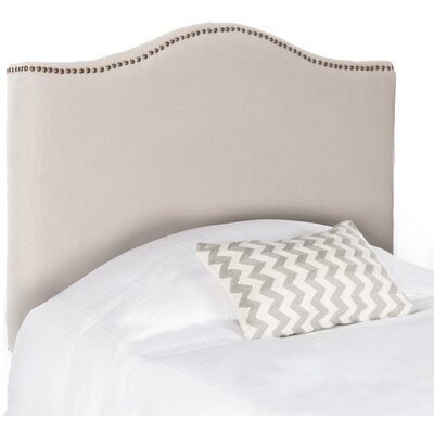 Laken Upholstered Panel Headboard Finish: Brass, Size: King