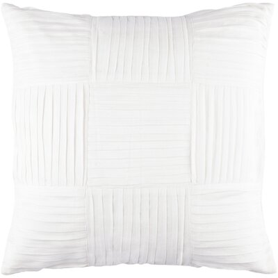 Holden Throw Pillow Color: Ivory, Size: 22 H x 22 W x 4 D
