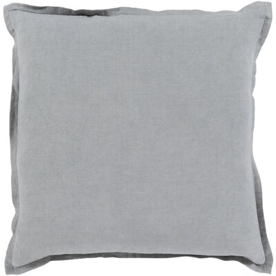 Windsor Throw Pillow Size: 18 H x 18 W x 4 D, Color: Dark Gray