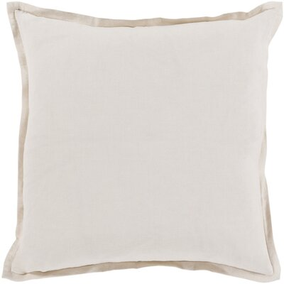 Strathmore Throw Pillow Size: 18 H x 18 W x 4 D, Color: Beige