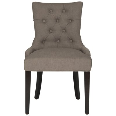 Heidel Side Chair Upholstery: Brown