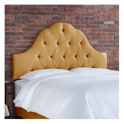Handley Upholstered Panel Headboard Size: Full, Upholstery: White