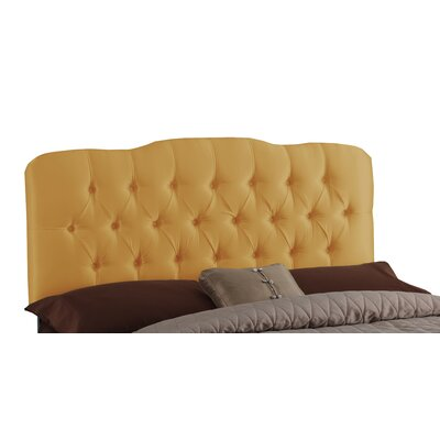 Davina Tufted Shantung Arch Upholstered Headboard Size: King, Finish: Shantung Silver