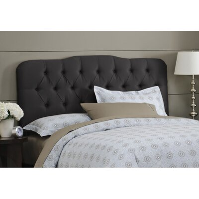 Davina Tufted Shantung Arch Upholstered Headboard Size: California King, Color: Shantung Black