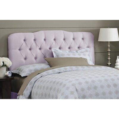 Davina Tufted Shantung Arch Upholstered Headboard Size: King, Color: Shantung Lilac