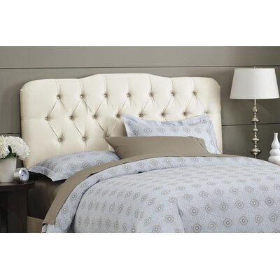 Davina Tufted Shantung Arch Upholstered Headboard Size: King, Color: Shantung Parchment