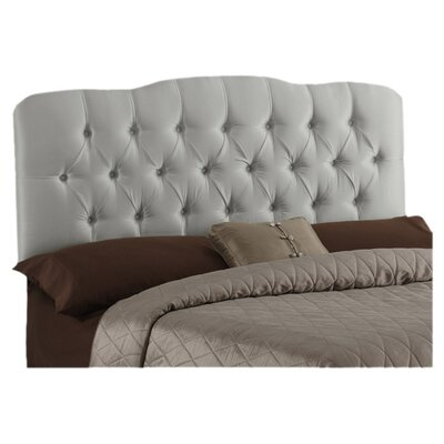 Davina Tufted Shantung Arch Upholstered Headboard Size: King, Color: Shantung Silver