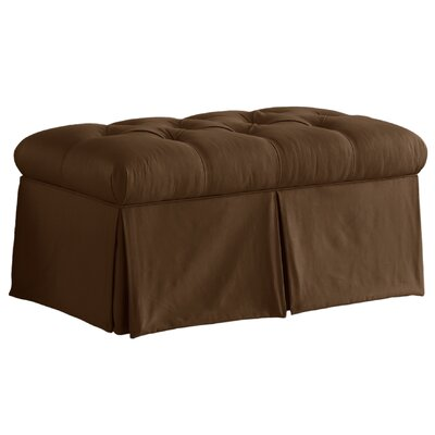 Davina Tufted Upholstered Microdenier Storage Bench Upholstery: Chocolate
