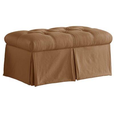 Cresta Cooper Tufted Upholstered Microdenier Storage Bench Upholstery: Khaki