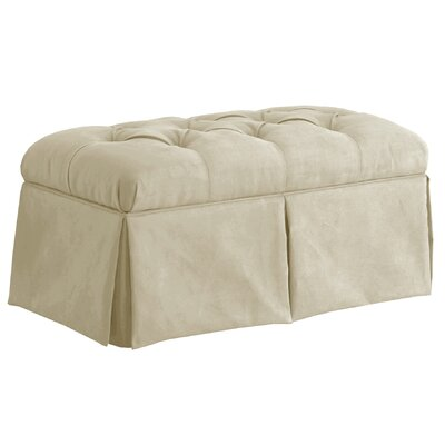 Davina Tufted Upholstered Microdenier Storage Bench Upholstery: Oatmeal