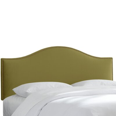Doleman Nail Button Upholstered Panel Headboard Size: Full, Finish: Sage