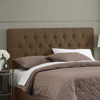 Davina Upholstered Panel Headboard Size: Queen, Upholstery: Chocolate