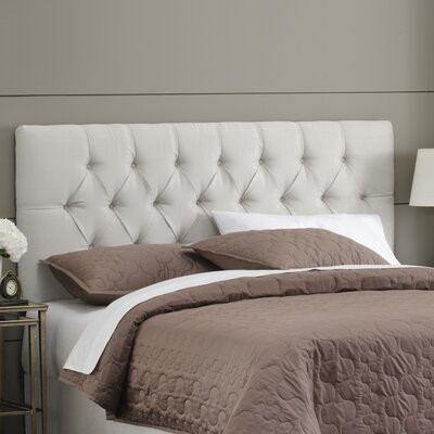 Davina Upholstered Panel Headboard Size: Twin, Upholstery: White