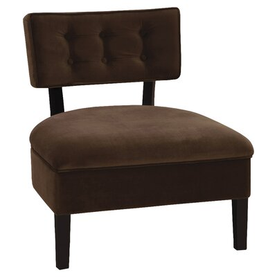 Elvie Side Chair Upholstery: Chocolate Velvet Fabric