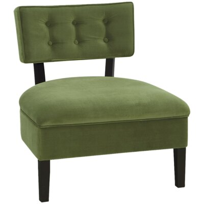 Elvie Slipper Chair Color: Spring Green Velvet Fabric