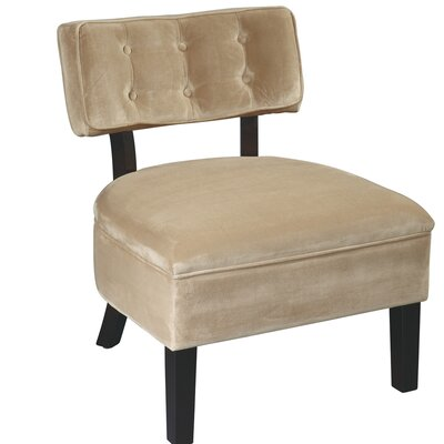 Elvie Slipper Chair Color: Coffee Velvet  Fabric
