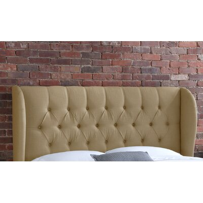 Stowmarket Tufted Diamond Upholstered Wingback Headboard Size: King, Upholstery: Sandstone