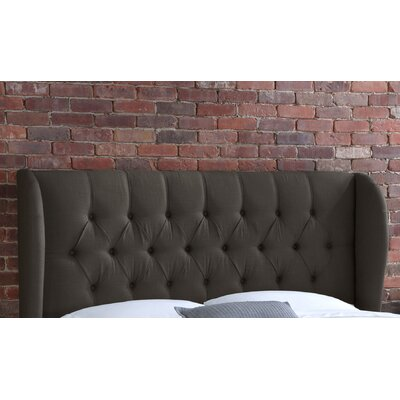 Stowmarket Tufted Diamond Upholstered Wingback Headboard Size: Queen, Upholstery: Charcoal
