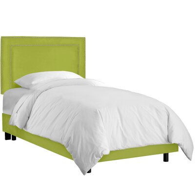 Diana Upholstered Panel Bed Size: Twin, Upholstery: Premier Kiwi