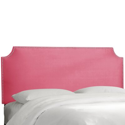 Brunella Notched Nail Button Upholstered Panel Headboard Size: California King