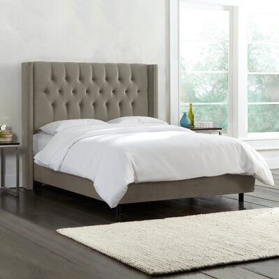 Brunella Upholstered Panel Bed Color: Mystere Gladiator Grey, Size: Queen