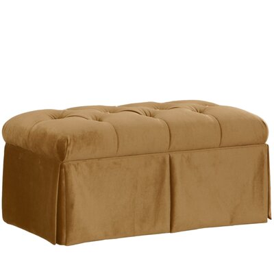 Wooler Fabric Storage Bedroom Bench Color: Mystere Moccasin