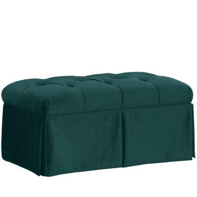 Wooler Fabric Storage Bedroom Bench Color: Mystere Peacock