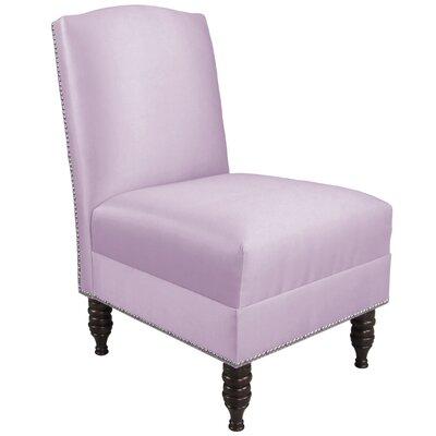 Derringer Armless Nail Button Chair Color: Shantung Lilac