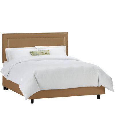 Depardieu Upholstered Panel Bed Color: Shantung Khaki, Size: King