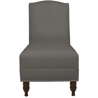 Dennis Armless Nail Button Chair Color: Twill Grey