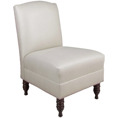 Derringer Armless Nail Button Chair Color: Shantung Khaki
