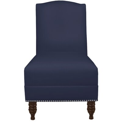 Dennis Armless Nail Button Chair Color: Twill Navy