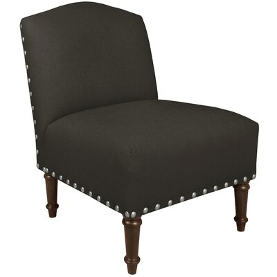 Graven Linen Big Nail Camel Back Chair Color: Linen Charcoal