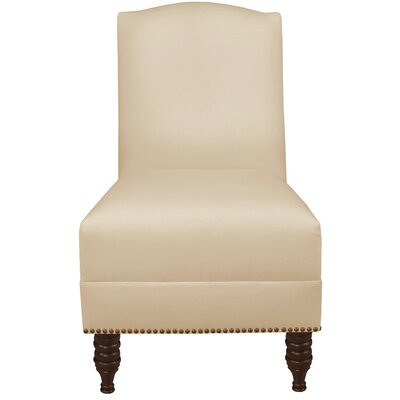 Dennis Armless Nail Button Chair Color: Twill Natural