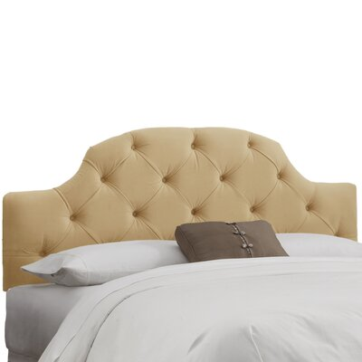 Velvet Tufted Upholstered Panel Headboard Upholstery: Velvet Buckwheat, Size: Queen