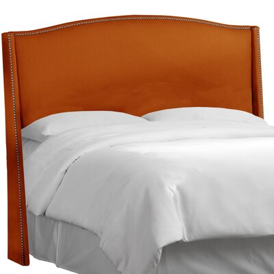 Ramet Nail Button Upholstered Wingback Headboard Upholstery: Klein Saffron, Size: California King
