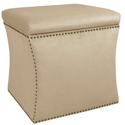 Garnett Storage Ottoman Upholstery: Premier Oatmeal