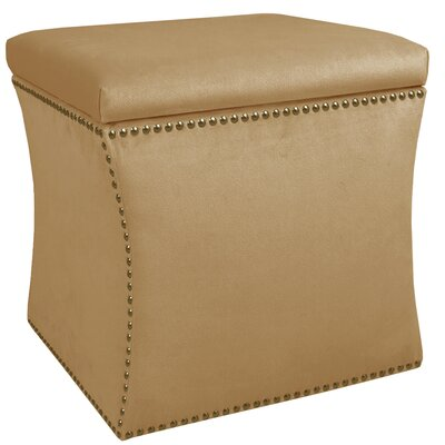 Diahann Nail Button Storage Ottoman Upholstery: Premier Saddle