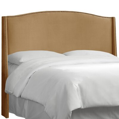 Premier Nail Button Upholstered Wingback Headboard Size: Full, Upholstery: Premier Saddle
