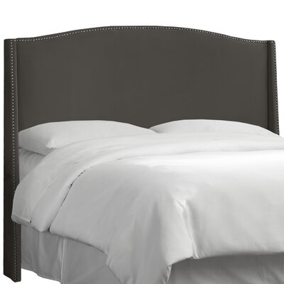 Premier Nail Button Upholstered Wingback Headboard Upholstery: Premier Charcoal, Size: Full