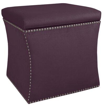 Garnett Nail Button Storage Ottoman Upholstery: Premier Purple