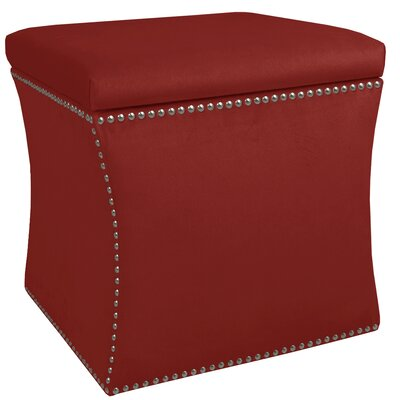 Diahann Nail Button Storage Ottoman Upholstery: Premier Red