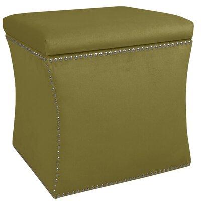 Garnett Nail Button Storage Ottoman Upholstery: Premier Sage