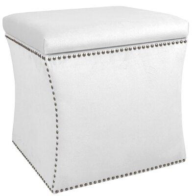 Garnett Nail Button Storage Ottoman Upholstery: Premier White