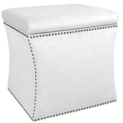 Garnett Storage Ottoman Upholstery: Premier White