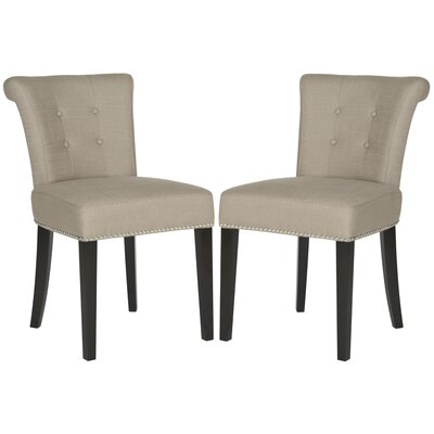 Florentine Side Chair Upholstery: Smoke