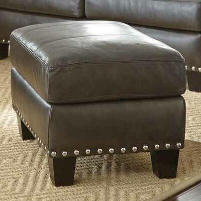Lincoln Leather Ottoman
