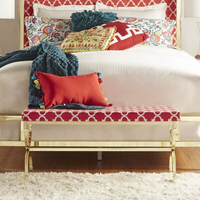 Inge Metal Bedroom Bench Color: Samba Red