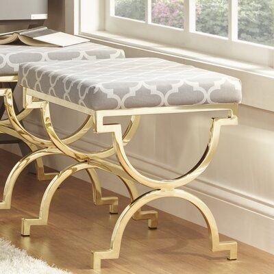 Inge Moroccan Print Bedroom Bench