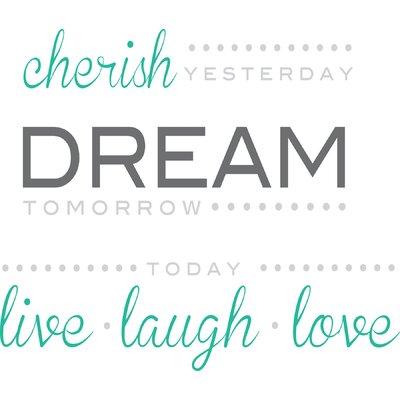 Altimore Cherish Dream Live Quote Wall Decal